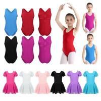 US Girls Kid Gymnastics Ballet Dress Leotard Tutu Skirts Ballerina Dance Costume
