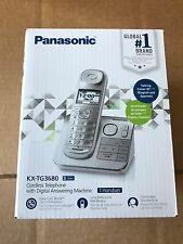 New Panasonic KX-TG3680S Cordless Phone Digital Answering Machine Silver Handset