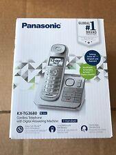 New Panasonic KX-TG3680S Cordless Phone Digital Answering Machine Silver Handset