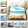 3D Sunshine Ocean Sea Beach Shell Bedding Set Duvet Cover Pillowcase Quilt Cover