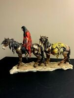 1987 GOEBEL DEGRAZIA ALONE LONE MAN ON HORSE FIGURINE LIMITED EDITION 10 333 21