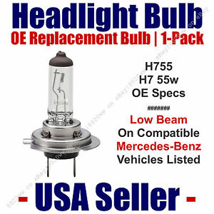 Headlight Bulb Low Beam OE Replacement 1pk Fits Listed Mercedes-Benz - H7 55