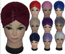 Señoras Sombrero Gorra Turbante Banda Hijab Headwear Envoltura Pérdida de Cabello CHEMO Headwrap Bandana
