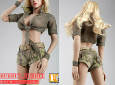 1/6 Women Camouflage Outfits Jeans Set For PHICEN Hot Toys Figure SHIP FROM USA