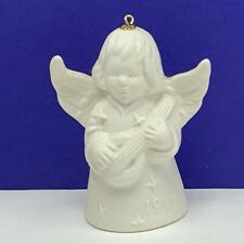 Goebel birthday angel ornament Christmas bell figurine hummel 1977 mandolin star