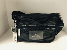 Marc Jacobs Ripstop Messenger Shoulder Crossbody Bag Black Zip Closure Logo