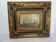 Oil painting of SHIP AT SEA, 20th Century - decorative item