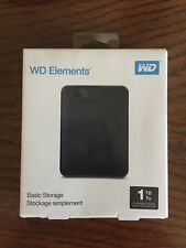 Western Digital WDBUZG0010BBK-WESN 1 TB Portable External Hard Disk - Black