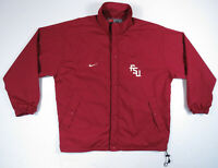Vintage 90s Florida State Seminoles FSU Nike Team NCAA Full Zip Mens Jacket XL