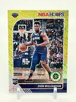 2019-20 NBA Hoops Premium Stock Zion Williamson Gold Shimmer 2/8 Rookie PSA 10