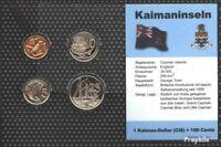 Kaiman-Inseln Stgl./unzirkuliert Kursmünzen 2002-2005 1 Cent bis 25 Cent