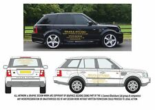 RANGE ROVER STICKERS DECALS PERSONALISED BUSINESS NAME & GRAPHIC DESIGN SERVICE