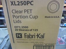 Fabri-Kal Portion Cup Lids Fits 1.5-2.5oz Cups Clear Xl250Pc 2500 Total