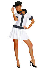 LADIES GANGSTER COSTUME WITH HAT ADULT FANCY DRESS OUTFIT 1920'S MOLL MOBSTER