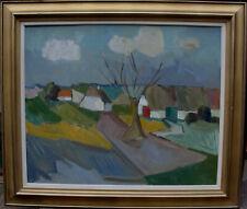 Arnold William Pedersen 1912-1986, Koloristische Dorfszene, um 1950