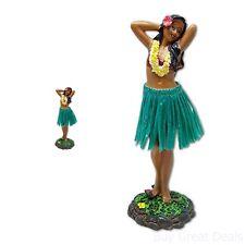 Dashboard Dancer Hula Doll Hawaiian Girl Posing Skirt Bobble Aloha Tan Car Auto