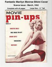 MOVIE PIN-UPS - CUTE MARILYN MONROE BIKINI COVER! - 1952 - VINTAGE, COMPLETE