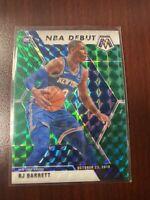 2019-20 Mosaic RJ BARRET NBA DEBUT GREEN Prizm Rookie RC #270
