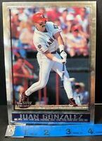 Juan Gonzalez Texas Rangers 1998 Topps Super Chrome MLB Baseball Card