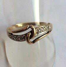 Ring mit sechs kleinen Diamanten  Gold 333 Gelbgold Gr. 60 - 19,1 mm