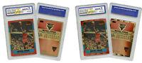 1996 Michael Jordan Rookie Reprint Special Gold Edition 2 Cards Lot Graded 10