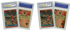 1996 Michael Jordan Rookie Reprint Special Gold Edition 2 Cards Lot Graded 10