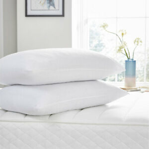 Extra Filled Pack of 2 Night Comfort Soft Firm Deluxe Bed Pillows Non-Allergic