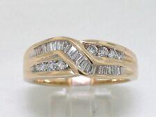 Diamant Brillant Ring 585 Gelbgold 14Kt Gold  Brillanten Baguette 0,45ct