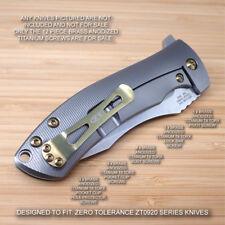 Zero Tolerance ZT0920 ZT 0920 920 Custom Titanium 12pc Screw & Pivot Set BRONZE