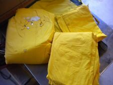 NOS Foul Weather Quilted Motorcycle Rider Riding 2 Piece Rain Suit Medium Yellow
