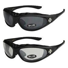 2er Pack Locs 9052 Choppers Rad Brille Sonnenbrille Herren Damen schwarz weiß