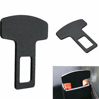Car Safety Seat Belt Buckle Alarm Stopper Eliminator Carbon Fiber Clip Black