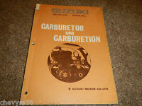 SUZUKI CARBURETOR INFORMATION THEORY SHOP SERVICE REPAIR MANUAL