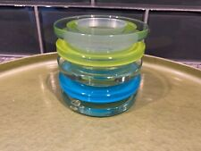 PartyLite Prism Tealight Holder P9272 Nib Stratus Aqua Blue Green Modern Art