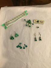 Vintage 1980's Earrings Saint St Patricks Day Leprechauns Jewelry Lot Dankin
