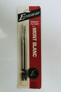 Eversharp Brand Ballpoint Pen Refill For MontBlanc Black Medium 2 Pack