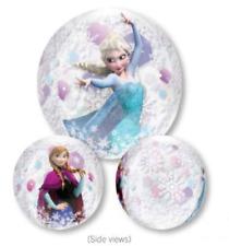 Elsa Anna Frozen Clear Orbz Balloon Girls Birthday Party Supplies 40cm