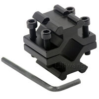 Barrel Clamp On to Picatinny Weaver Rail Mount Adapter For Rifle Bipod ###