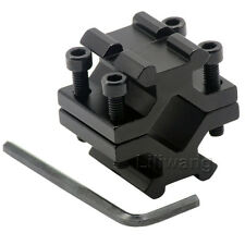 Double Weaver Rail Barrel Mount 20mm Fit For Rifle/Shotgun/Torch/Laser/Bipod