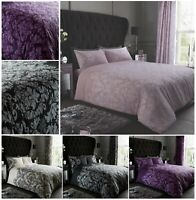 Luxuries EMPIRE DAMASK Printed Reversable Duvet Cover+Pillow Case Bedding Set Gc