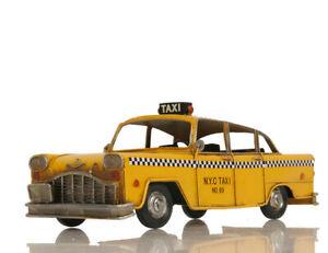 "Checker Cab Company New York City Yellow NYC Taxi Metal Car Desk Model 13"" New"