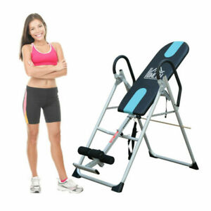 Foldable Therapy Gravity Inversion Table AB Exercise Bench Home Fitness