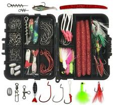 100Pcs Fishing Lures Accessories Kit including Hooks Saltwater Lure Swivel Snaps