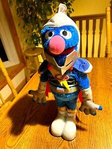 "Super Grover 2.0 (2011) Talks & Sings - Sesame Street 15"" tall Hasbro"