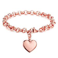 Cute Women Fashion Stainless Steel Love Heart Bangle Cuff Bracelet Chain Jewelry
