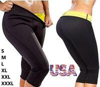 Sauna Pants Body Shaper Hot Sweat Weight Loss Slimming Thermo Neoprene Gym Women