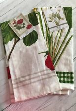 Kichent Towel Set Two Printed Flowers 100%cotton