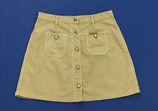 Lecrique jeans mini gonna usata w34 tg 48 bottoni beige vintage hot mom T1552