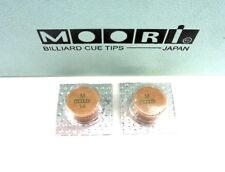 2 Moori Medium Pool Cue Tips 14mm Qty 2 Tips