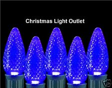 25 C7 Blue RETRO FIT LED Christmas House Light BULBS